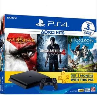 Playstation 4 jet Black hits bundle