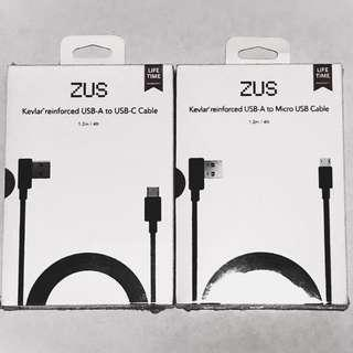[2nd Item @ 50%] ZUS 1.2 m USB A to micro USB cable