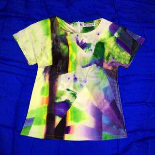 [2nd Item @ 50%] Abstract Colour Top