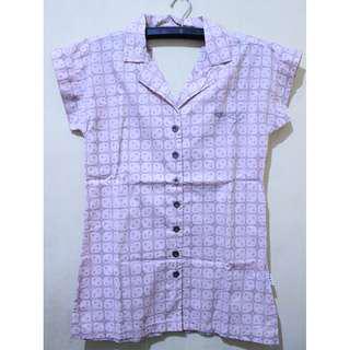 Roxy - Soft Pink Pattern Shirt