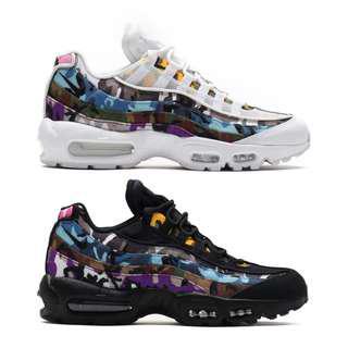 """Nike Air Max 95 ERDL Party """"White/Multicolour Camo"""" / """"Black/Multicolour Camo"""""""