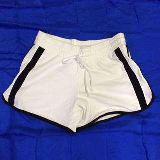 [2nd Item @ 50%] Mummy's First White & Black Sports Shorts