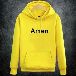 Yellow Amen Hoodie