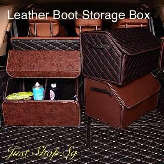 Car Leather Boot Storage Box