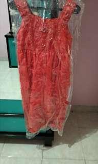 Dress pesta anak/ gaun pesta anak/gaun merah anak
