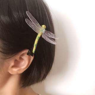 手作|怪奇美少女の惡趣味蜻蜓髮夾