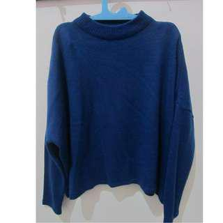 Sweater Knit Biru (electric blue)