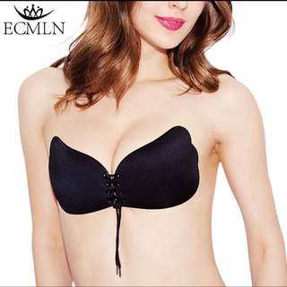 BNIP Silicone black push up bra
