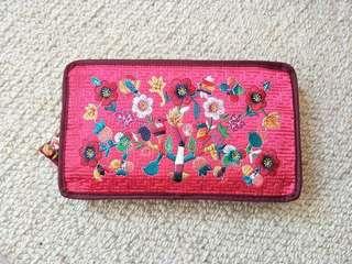 Floral makeup bag / wallet