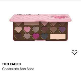 🚚 too faced choc bon bons palette