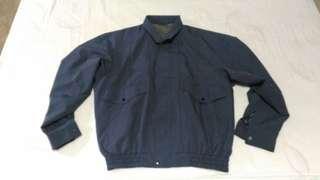 日本製 古著 夾克 外套 灰藍 vintage  LL 二手 oversize
