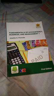 FUNDAMENTALS OF ACCOUNTANCY, BUSINESS AND MANAGEMENT 1 K12