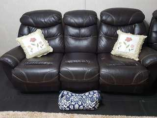 Leather Sofa 3 Seater with reclining