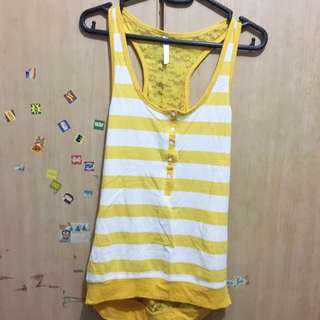Almost new Yellow sleevless top