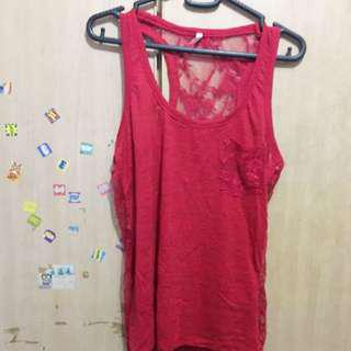 BN Maroon sleeveless top
