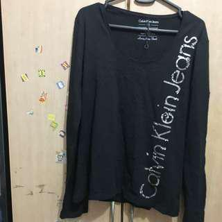 Almost new calvin klein jeans long sleeve black top