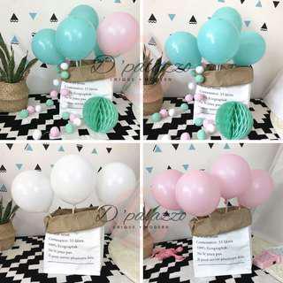 10' inch 2.2g Matte Pink Balloon Matte White Balloon Matte Tiffany Blue Balloon