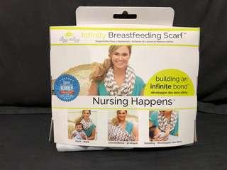 Itzy Ritzy Nursing Happens Infinity Breastfeeding Scarf in Grey Chevron