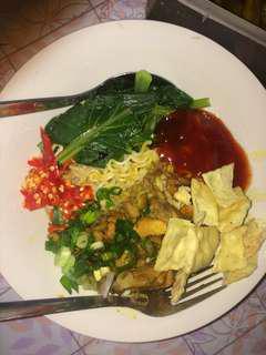 Mie ayam home made KL, khas indonesia