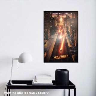 Poster framed FLASH 24 x 36 inches