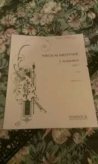 鋼琴書Nikolai Medtner 3 Arabesken Opus 7(Simrork)