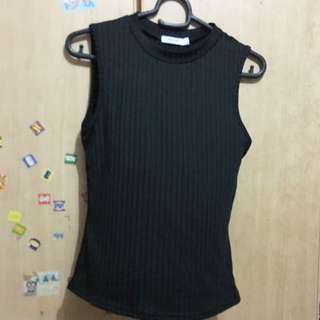 Almost new sleeveless black top