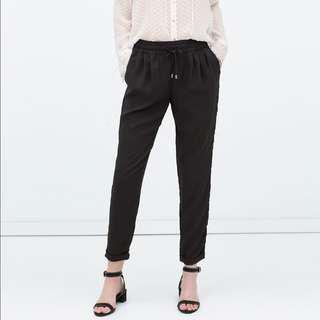 Zara basic drawsting culottes
