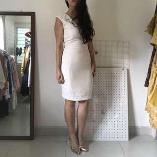 BNWT MNG Suit Formal White Bodycon Dress