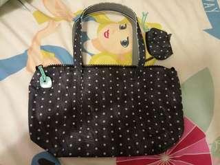 crumpler polka dot handbag 澳洲品牌 黑白波點 女裝手挽袋連小物袋