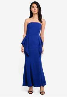 Preen & Proper Blue Bustier Maxi Dress