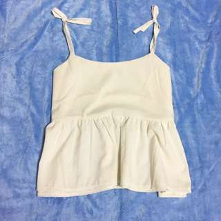 Baby doll tie knot top