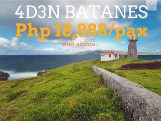 4D3N Batanes with Airfare via Clark