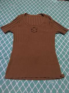 brown blouse