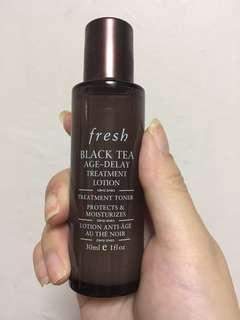 Fresh black tea age-delay treatment lotion treatment toner