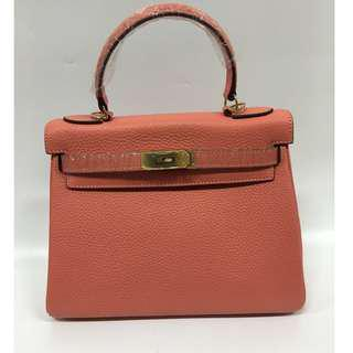 House of hello Togo print Birkin bag in size 25 Pink