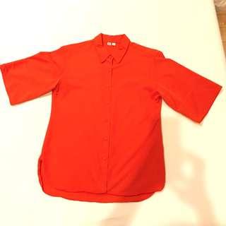 Uniqlo A-line blouse sz S
