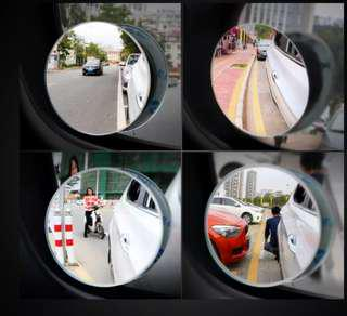 9D 360 degree frameless adjustable blind spot mirror