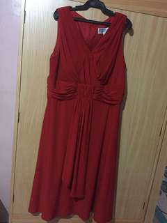 Red Gown (for plus size)