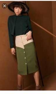 🚚 Marjorie 撞色窄裙