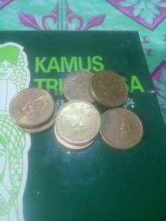 Coin $1 keris, satu set tahun 89----96