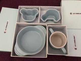 Le Creuset 全新陶瓷嬰兒餐具一套3件裝(Blue)