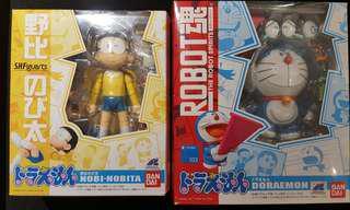 全新 Robot 魂 Doraemon 多啦A夢 + S.H.F 野比大雄 一套兩隻