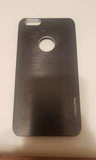 🚚 motomo iPhone6 plus 黑 金屬 髮絲紋 韓國製 手機殼