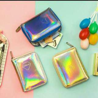 Holographic laser purse wallet #fashion100