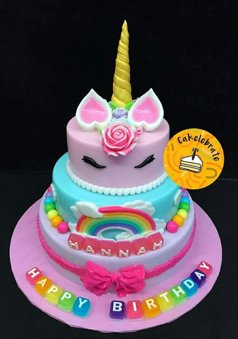 6 8 10 Unicorn Jelly Birthday Cake Food Drinks Baked
