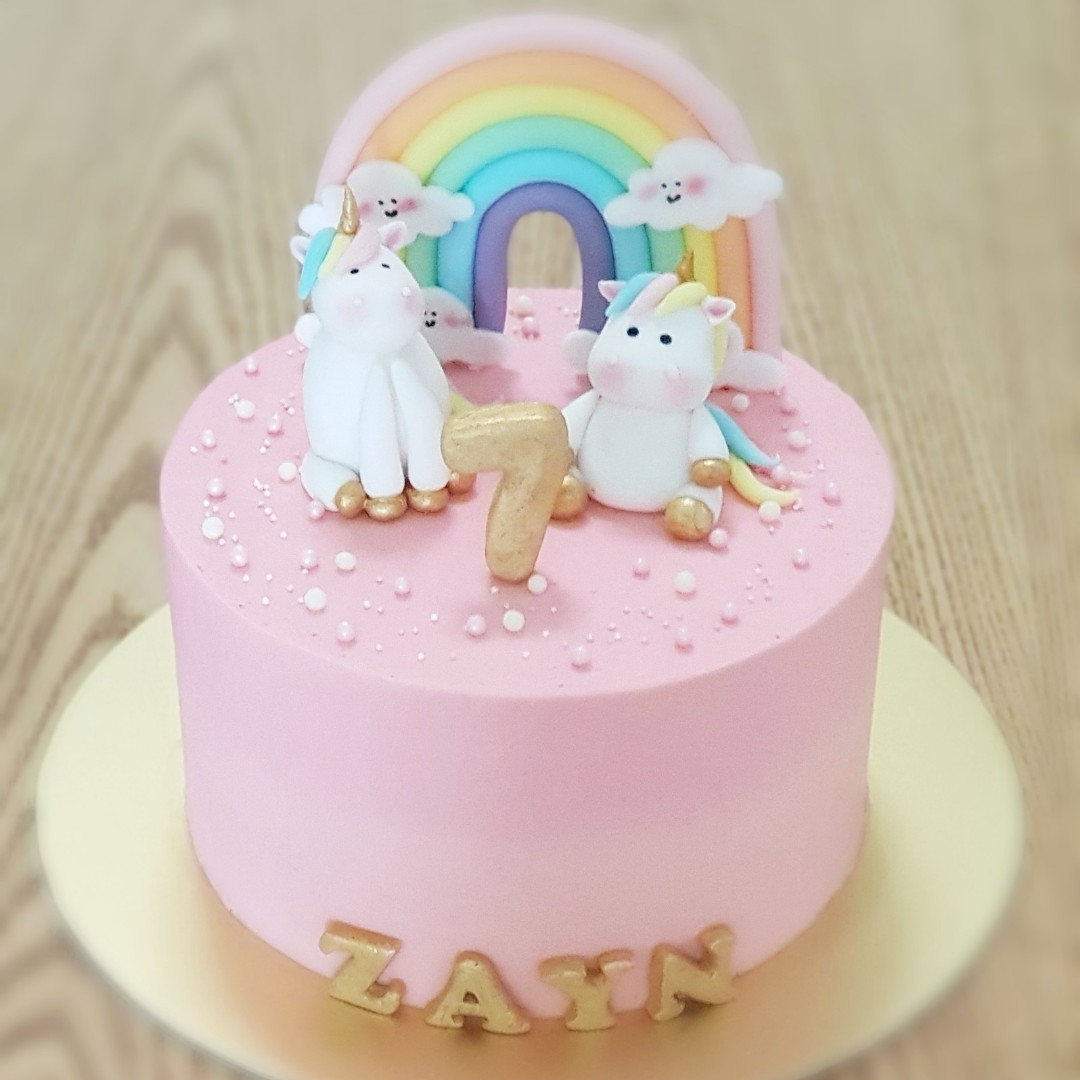 6 Inches Unicorn Birthday Cake Food Drinks Baked Goods On Carousell