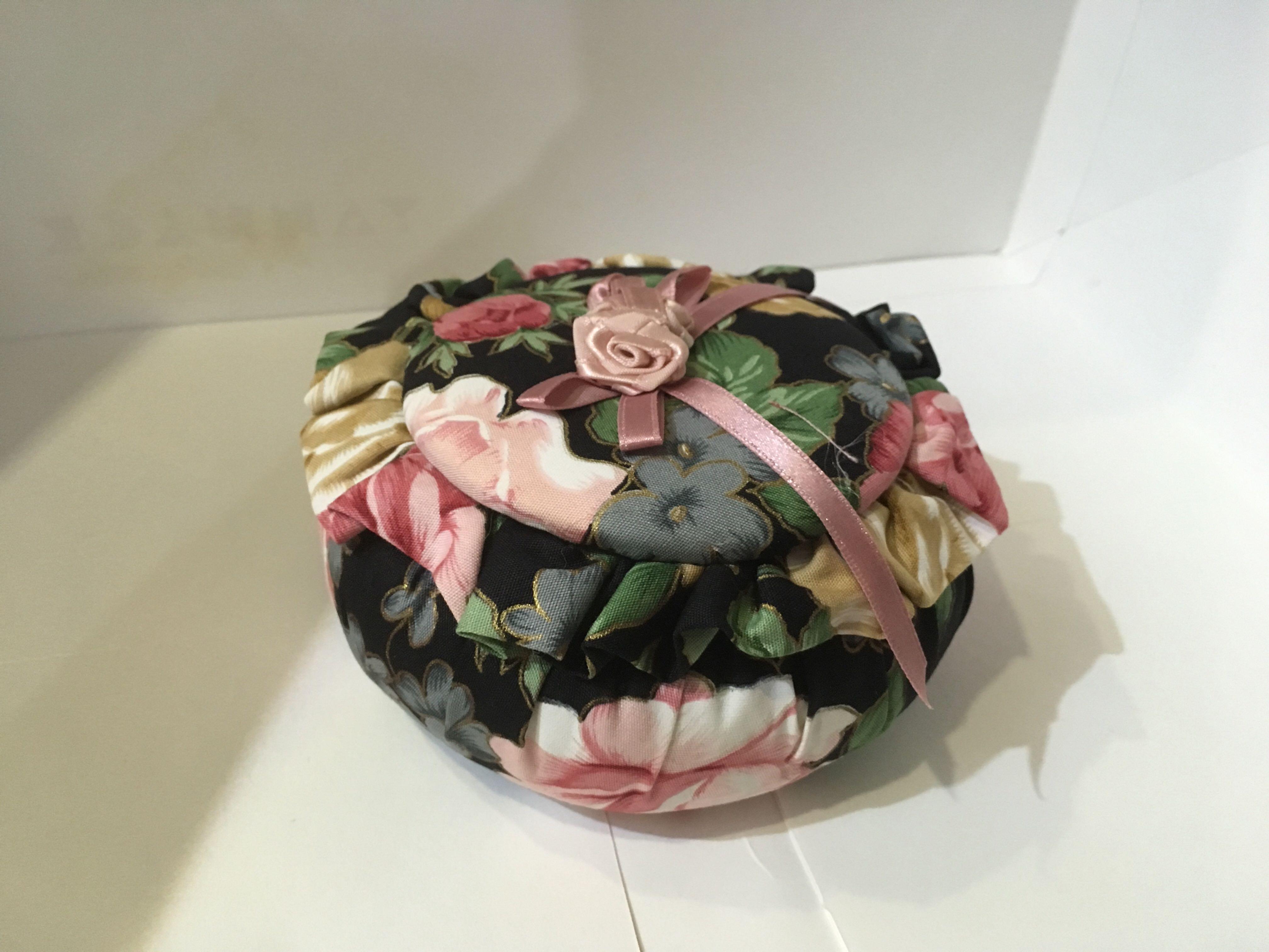 復古大花置物盒