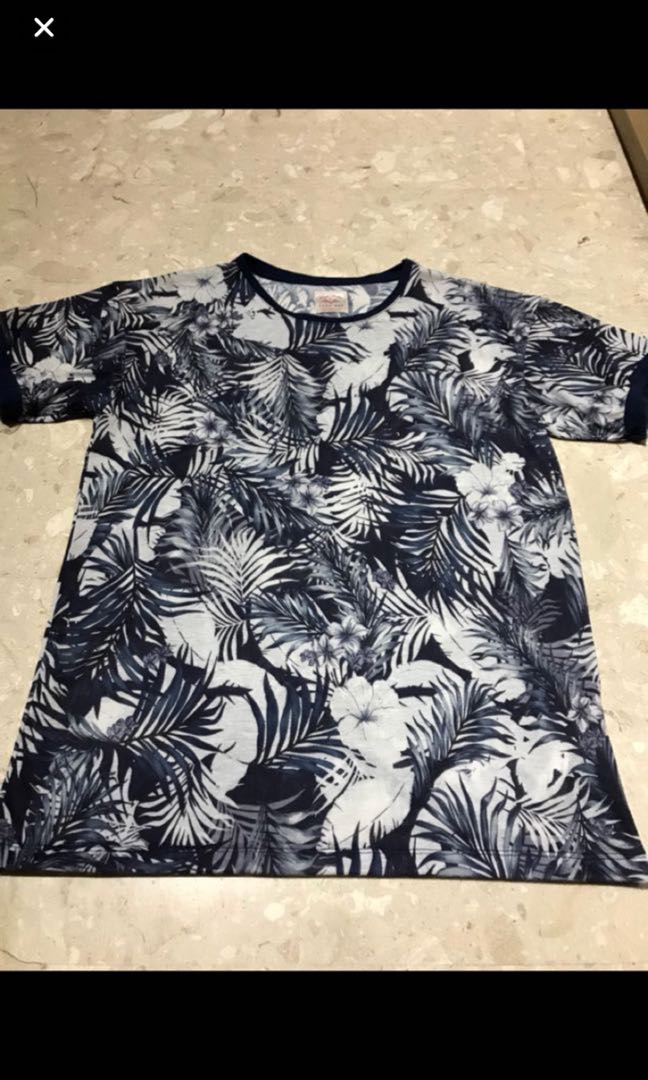 f87693a8 Authentic BN Zara Man Tropical Palm Printed Tshirt, Men's Fashion ...