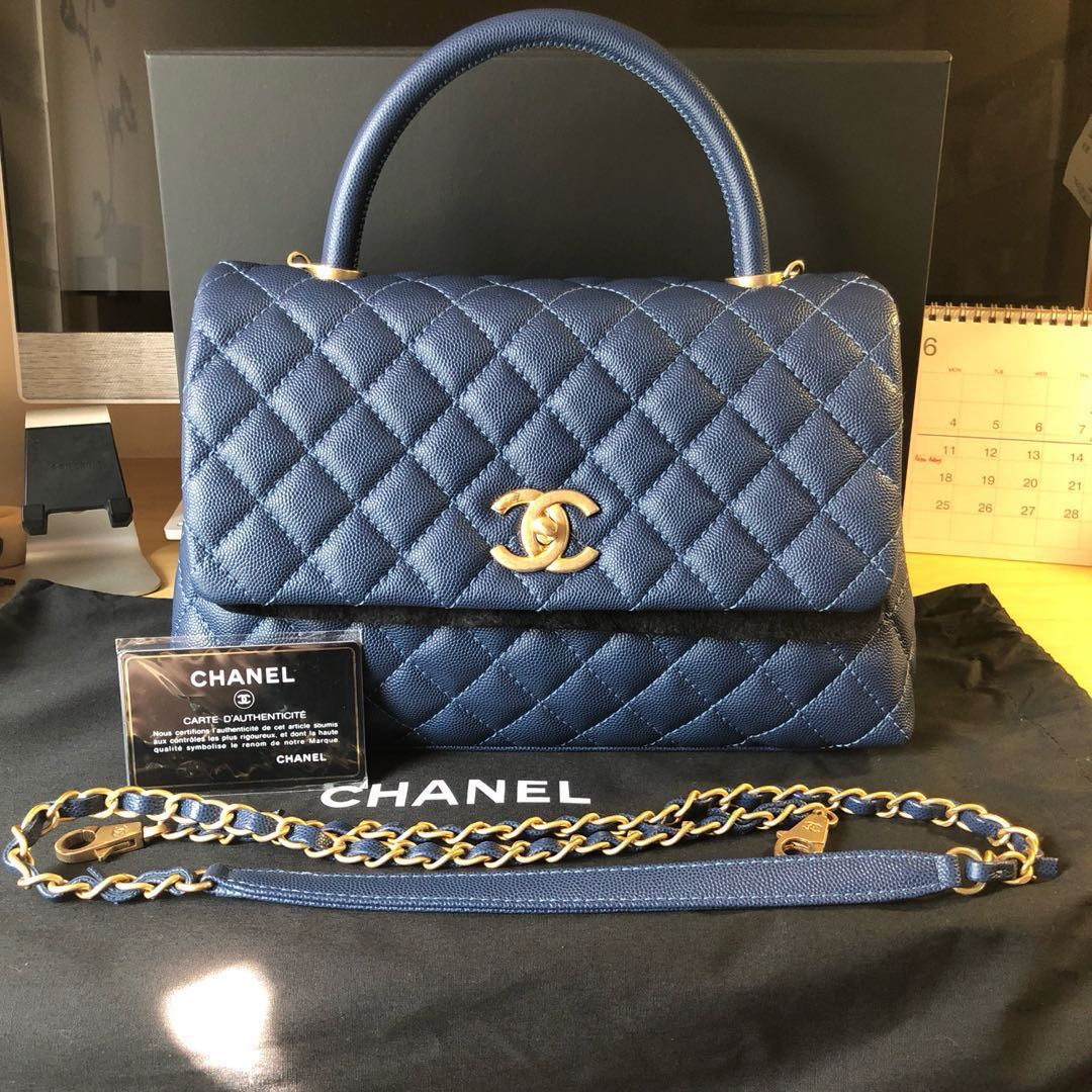 49ecf226255597 Authentic Chanel Coco Handle Small, Luxury, Bags & Wallets, Handbags ...