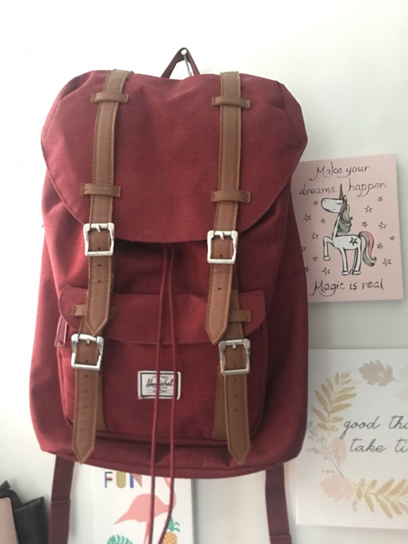 3422f2feaaf Authentic Herschel Maroon Bag